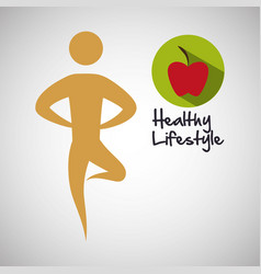 Healthy lifestyle design bodycare icon isolate vector