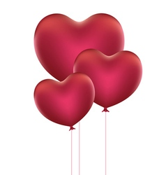 Heart Shaped Balloons3 vector image