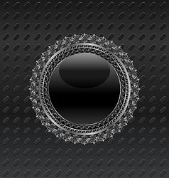 heraldic circle shield on metallic background vector image