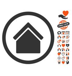home icon with love bonus vector image