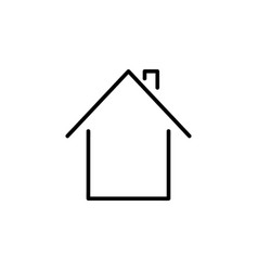 Home outline icon vector