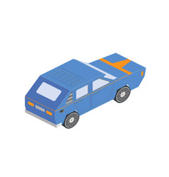Isometric sportcar or hatchback vehicle car on vector