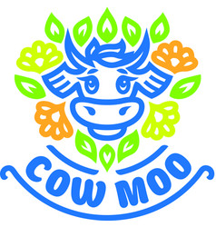 logo of cow vector image