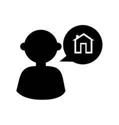 Man house agent icon vector