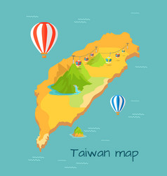 maokong dragon mountain cableway in taiwan vector image