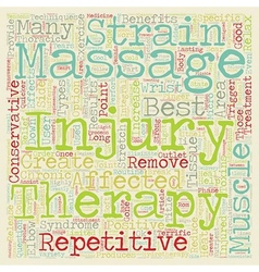 Massage Therapy And Repetitive Strain Injuries vector