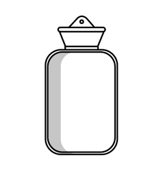 Medical water bottle icon vector