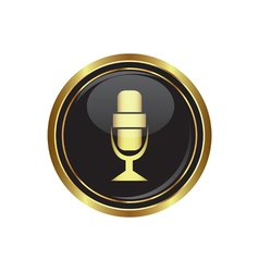 Microphone icon vector image