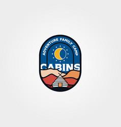 modern cabin emblem logo design cottage logo vector image