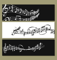 notes music melody colorfull musician banner vector image