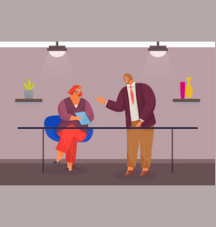 people at business meeting business partners vector image