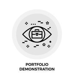 Portfolio demonstration line icon vector