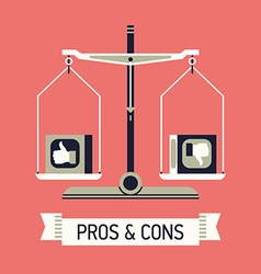 Pros and Cons vector