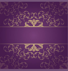 Purple background baroque with flowers vector