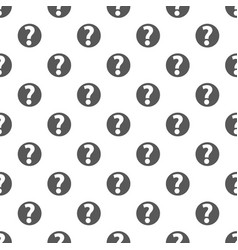 question mark sign pattern seamless vector image