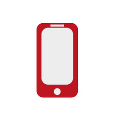 red phone on ilustration on white vector image