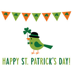 saint patricks day greeting card with a vector image