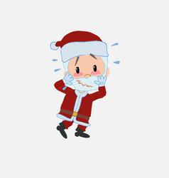santa claus pleasantly surprised vector image
