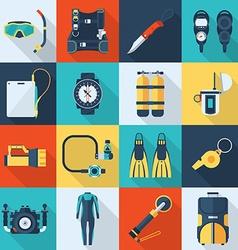 Scuba Diving Icon Set vector