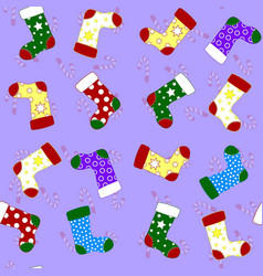 seamless pattern with different socks vector image