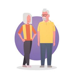 Senior man and woman couple grandmother vector