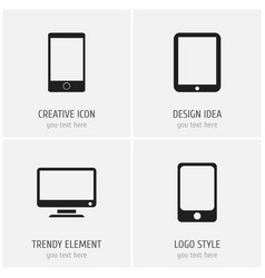 set of 4 editable devices icons includes symbols vector image