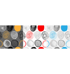 set of seamless patterns scandinavian style vector image