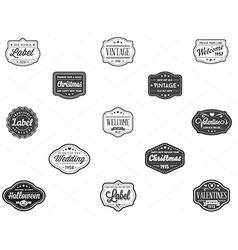 Set of Vintage Retro Styled Premium Design Labels vector