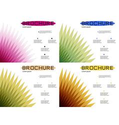 Set of white brochure cover design fancy info vector