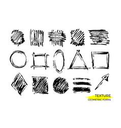 set texture form vector image