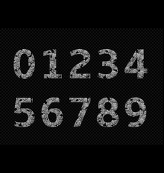 silver broken numbers vector image