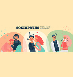 Sociopaths header vector