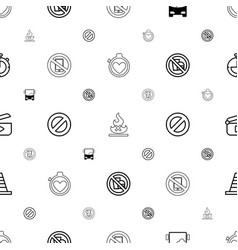 Stop icons pattern seamless white background vector
