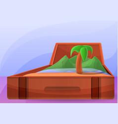 travel island concept banner cartoon style vector image