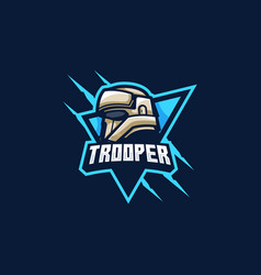Trooper mascot games template vector