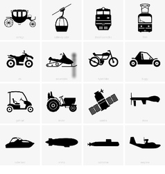 Vehicles and transportation vector