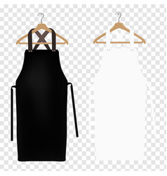 white and black aprons vector image