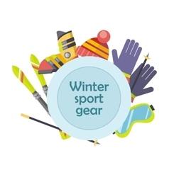 Winter Sport Gear Concept in Flat Design vector image
