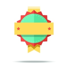 Flat style badge icon with vector image vector image