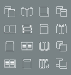 Outline book icon vector image vector image