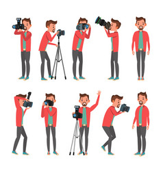 photographer photo studio photographer vector image