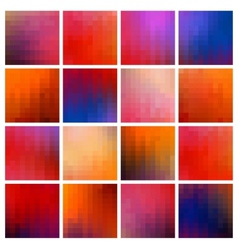 colored pixel backgrounds vector image vector image