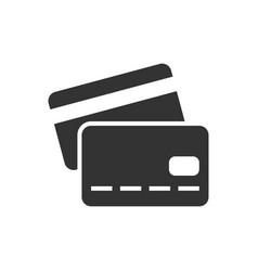 credit card black icon vector image vector image