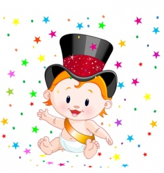 new year baby vector image vector image