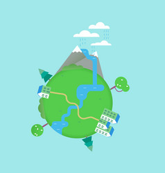 Planet earth nature conservation concept vector
