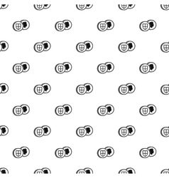 Pound coin pattern simple style vector