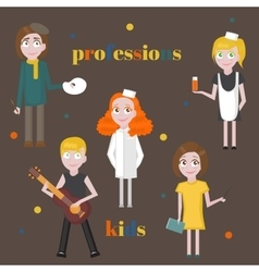 Profession icons set Profession for kids cartoon vector image