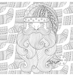 Santa on winter knitted socks seamless pattern in vector image vector image