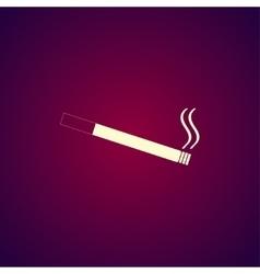 Cigarette icon Flat design style vector image vector image
