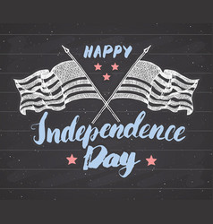 Happy independence day fourth of july vintage vector